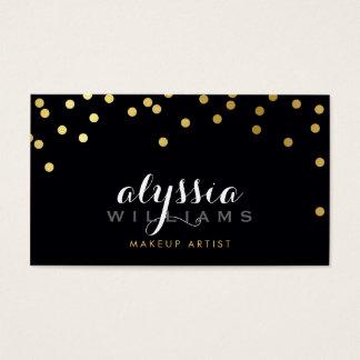 GLAMOROUS confetti shiny gold foil bold black
