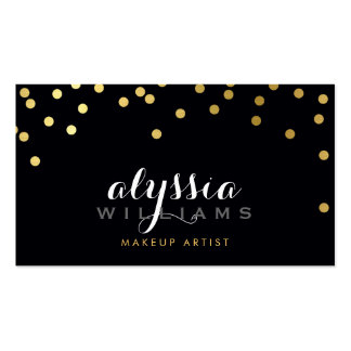 GLAMOROUS confetti shiny gold foil bold black Pack Of Standard Business Cards