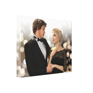 Glamorous Couple with Twinkling Bokeh Gallery Wrapped Canvas