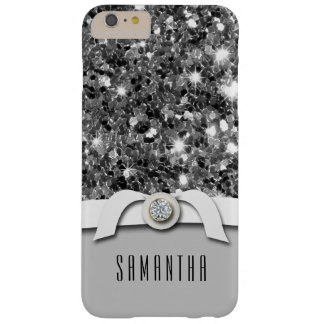 Glamorous Diamond And Silver Glitter Confetti Case Barely There iPhone 6 Plus Case