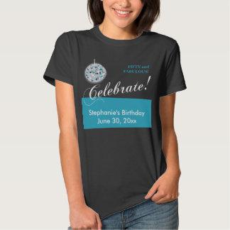 Glamorous Disco Ball 50th Birthday Party Shirt