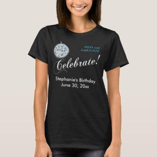 Glamorous Disco Ball 50th Birthday Party T-Shirt