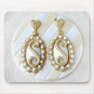Glamorous Earrings mousepad by Salon Glacé