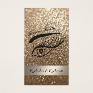 glamorous elegant glittery Eyelashes & eyebrow Business Card