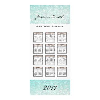Glamorous elegant glittery yearly calendar 2017 full color rack card