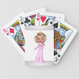 Glamorous Girly Pink Diva Bicycle Playing Cards