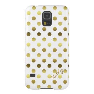 Glamorous Gold Polka Dot Samsung Galaxy S5 Case