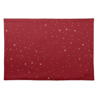 Glamorous Gold Stars (red) Placemats