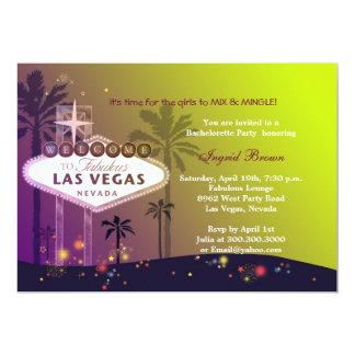 Glamorous Las Vegas Fun Bachelorette Party 13 Cm X 18 Cm Invitation Card