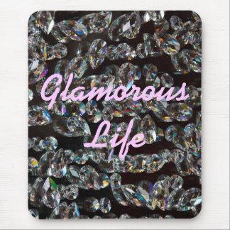 Glamorous Life Crystals Mousepad