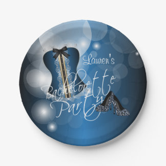 Glamorous Lingerie Bachelorette Party  | Blue Paper Plate