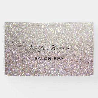 Glamorous modern  adorable chic glittery banner