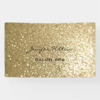 Glamorous modern chic faux gold glittery