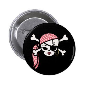 Glamorous Pirate 6 Cm Round Badge