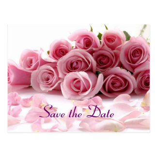 Glamorous save the date postcard