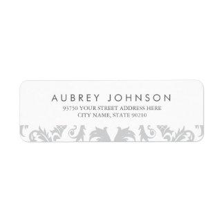 Glamorous Silver Address Labels