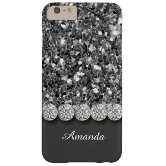 Glamorous Silver Glitter And Sparkly Diamonds Case Barely There iPhone 6 Plus Case
