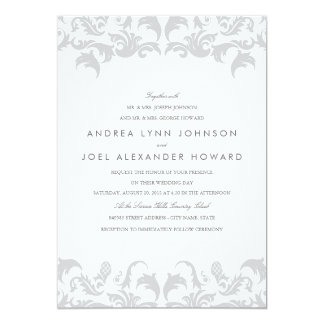Glamorous Silver Wedding Invitation
