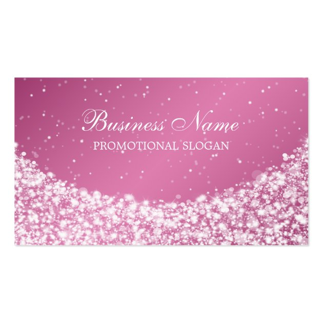 Glamorous Star Sparkle Pink Business Card