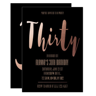 Glamorous, Thirty Birthday Invitations