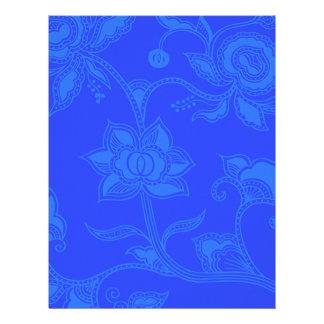 Glamorous Vintage Floral Elegant Blue 21.5 Cm X 28 Cm Flyer