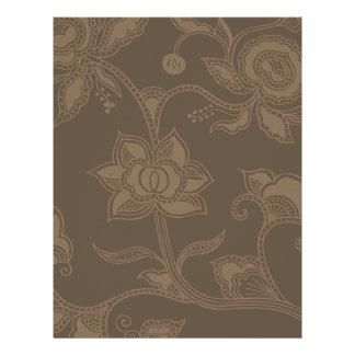 Glamorous Vintage Floral Elegant Coffee Brown 21.5 Cm X 28 Cm Flyer