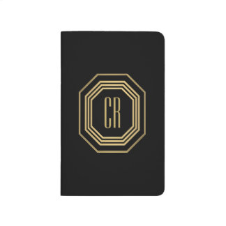 Glamorous Vintage Gold Art Deco Initials Monogram Journal