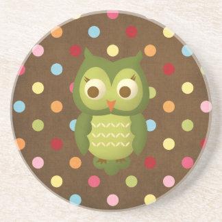 Glamorous Wise Owl Drink Coasters
