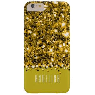 Glamorous Yellow Sparkly Glitter Confetti Case
