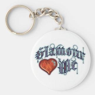 Glamour Basic Round Button Key Ring