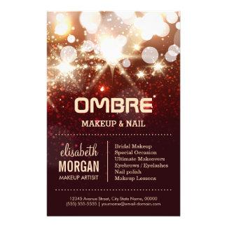 Glamour Beauty - Stylish Gold Glitter Sparkles 14 Cm X 21.5 Cm Flyer