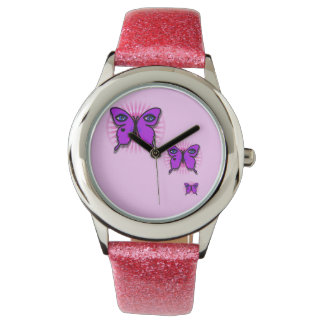 Glamour Butterfly Glitter Watch