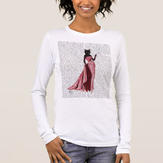 Glamour Cat in Pink 2 Long Sleeve T-Shirt