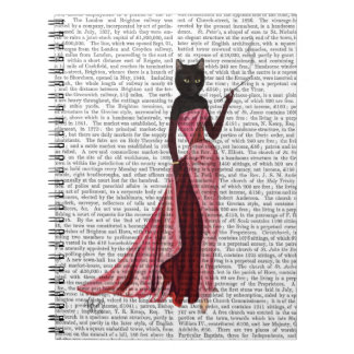 Glamour Cat in Pink 2 Notebook