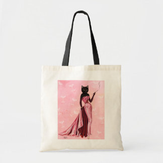 Glamour Cat in Pink Budget Tote Bag