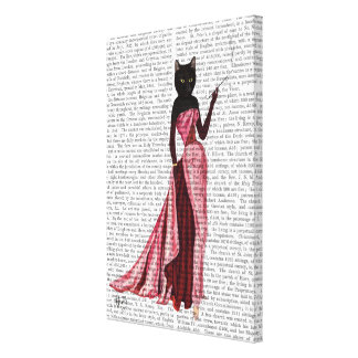 Glamour Cat in Pink Canvas Print
