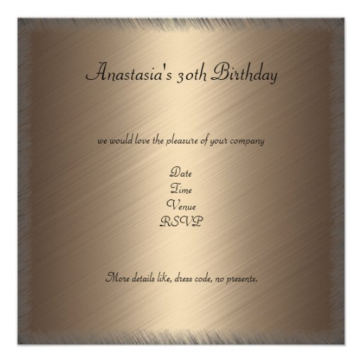 Glamour Coffee Black Floral Birthday Party 2 Personalized Invites