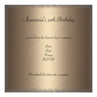 """Glamour Coffee Black Floral Birthday Party 2 5.25"""" Square Invitation Card"""