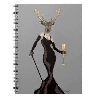 Glamour Deer in Black 2 Notebook