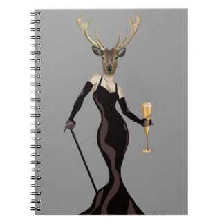 Glamour Deer in Black 3 Notebook