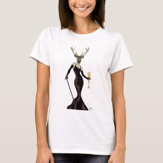Glamour Deer in Black 3 T-Shirt
