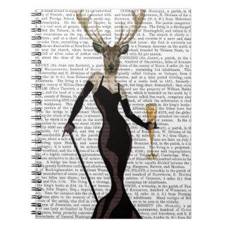 Glamour Deer in Black Notebook