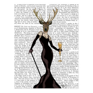 Glamour Deer in Black Postcard