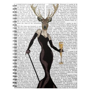 Glamour Deer in Black Spiral Notebook