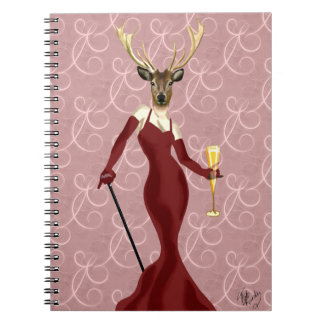 Glamour Deer in Marsala 2 Notebook