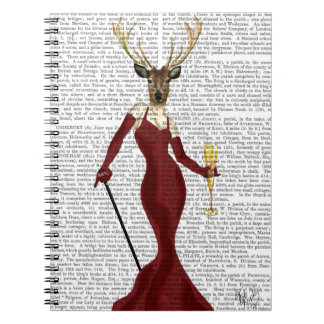 Glamour Deer in Marsala Spiral Notebook