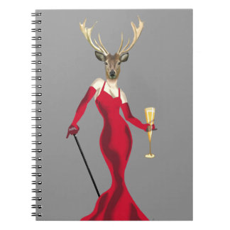 Glamour Deer in Red Notebooks