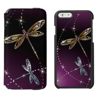 Glamour Diamond Butterfly Incipio Watson™ iPhone 6 Wallet Case