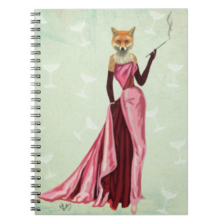 Glamour Fox in Pink 2 Notebooks