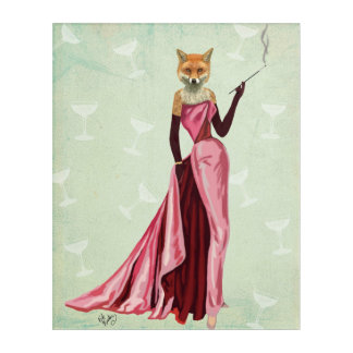 Glamour Fox in Pink Acrylic Print